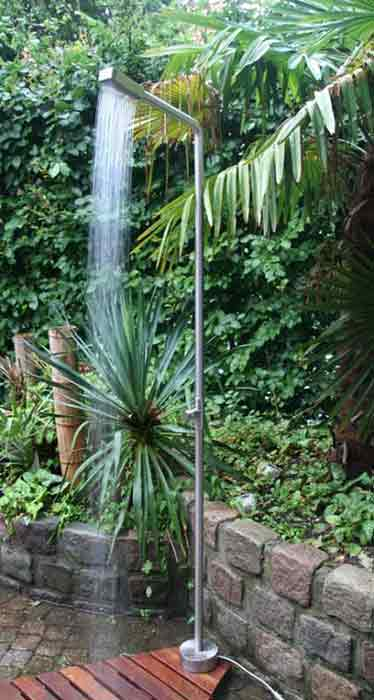 Stylish Stainless Steel Outdoor Pool Showers