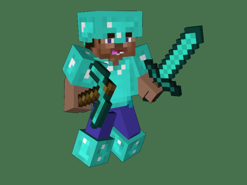 Transparent Minecraft Person