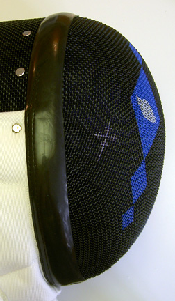 Custom Painted Fencing Masks At Pointed Comments