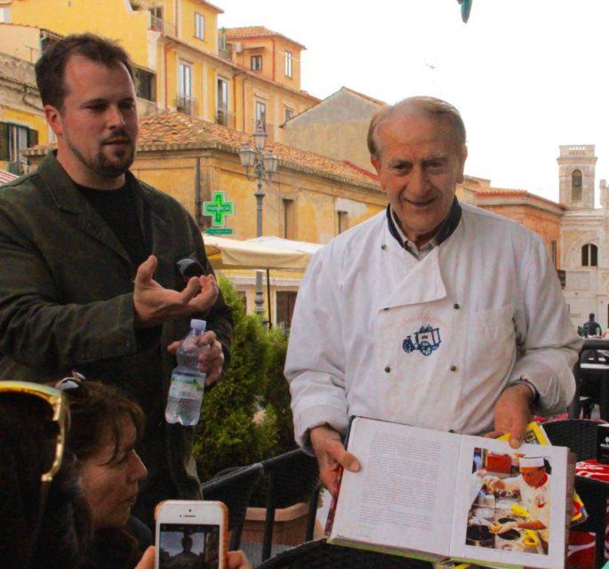 cooking demonstration of tarttufo, gelato shop, Gelato Italiano, Italian Gelato