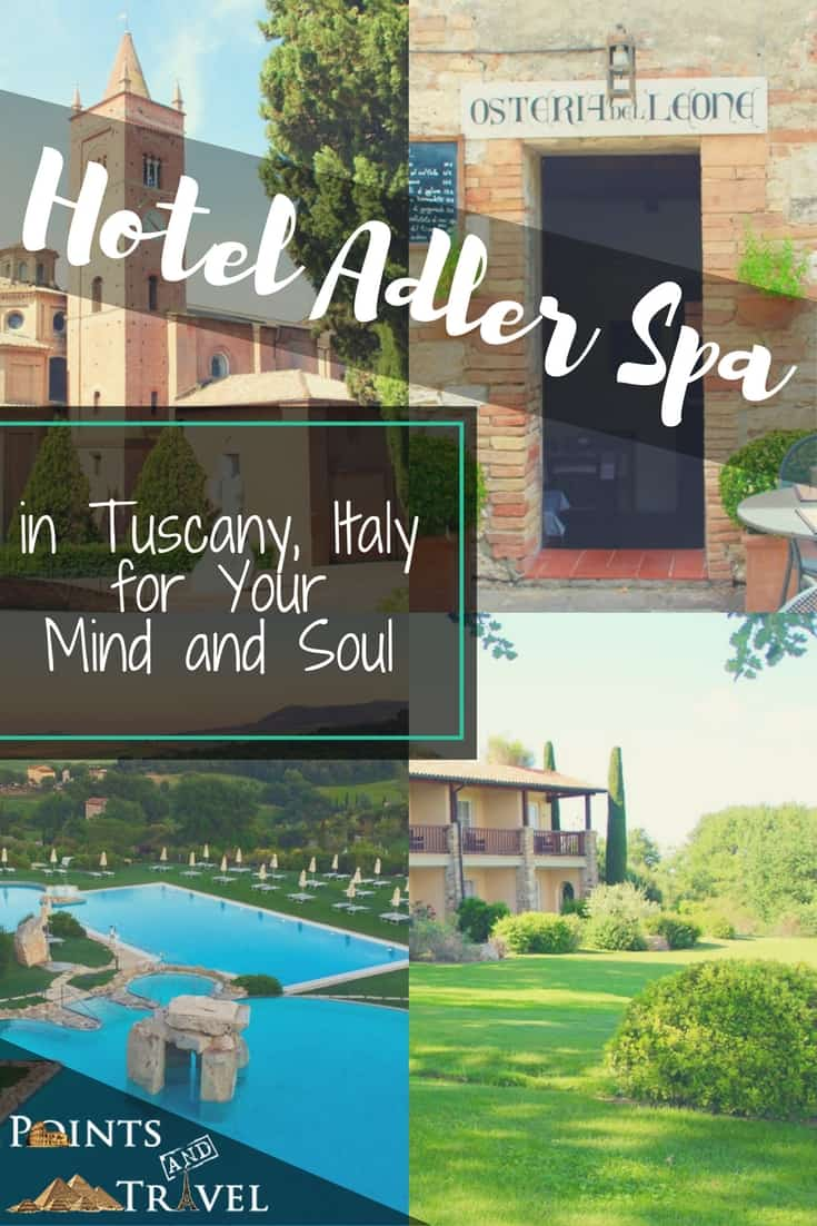 Hotel Adler Spa in Tuscany, Italy is amazing come see!