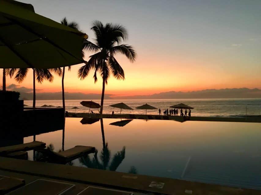 Sunset at Hyatt Ziva Puerto Vallarta, Puerto Vallarta all inclusive resort, best Puerto Vallarta hotels on the beach