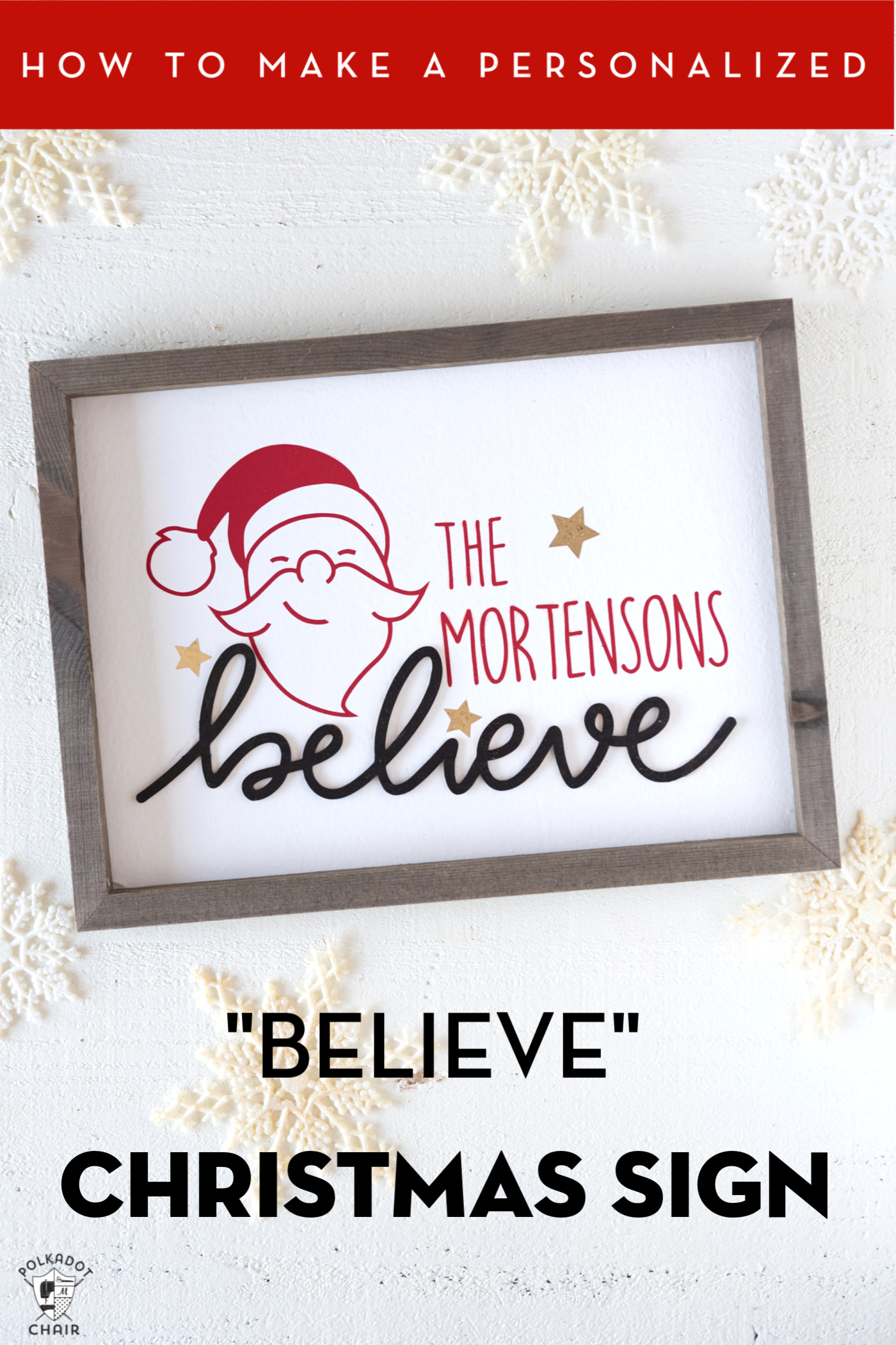How To Make A Wood Christmas Sign With Cricut Polka Dot