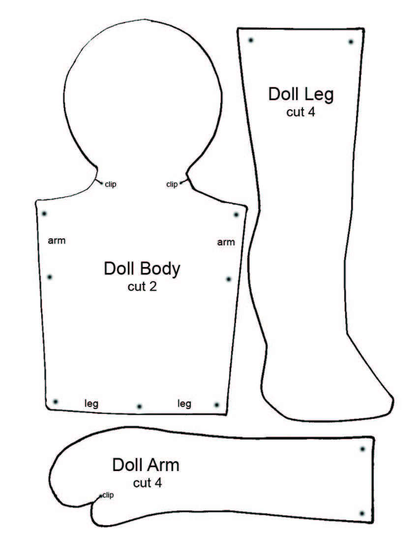 Simple Rag Doll Patterns Free