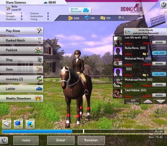 Nerd Reviews  Riding Club Championship   Facebook Horse Game