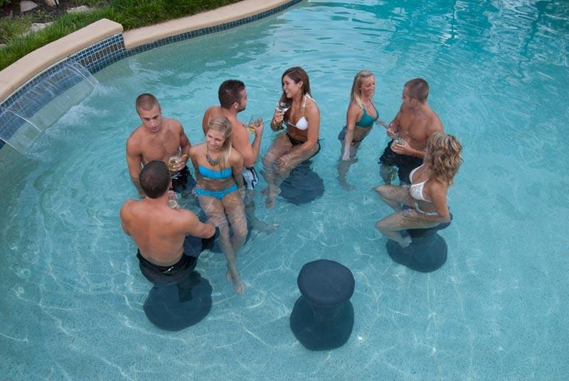 Envy Pool Products Pool Stool Black Granite Env00307