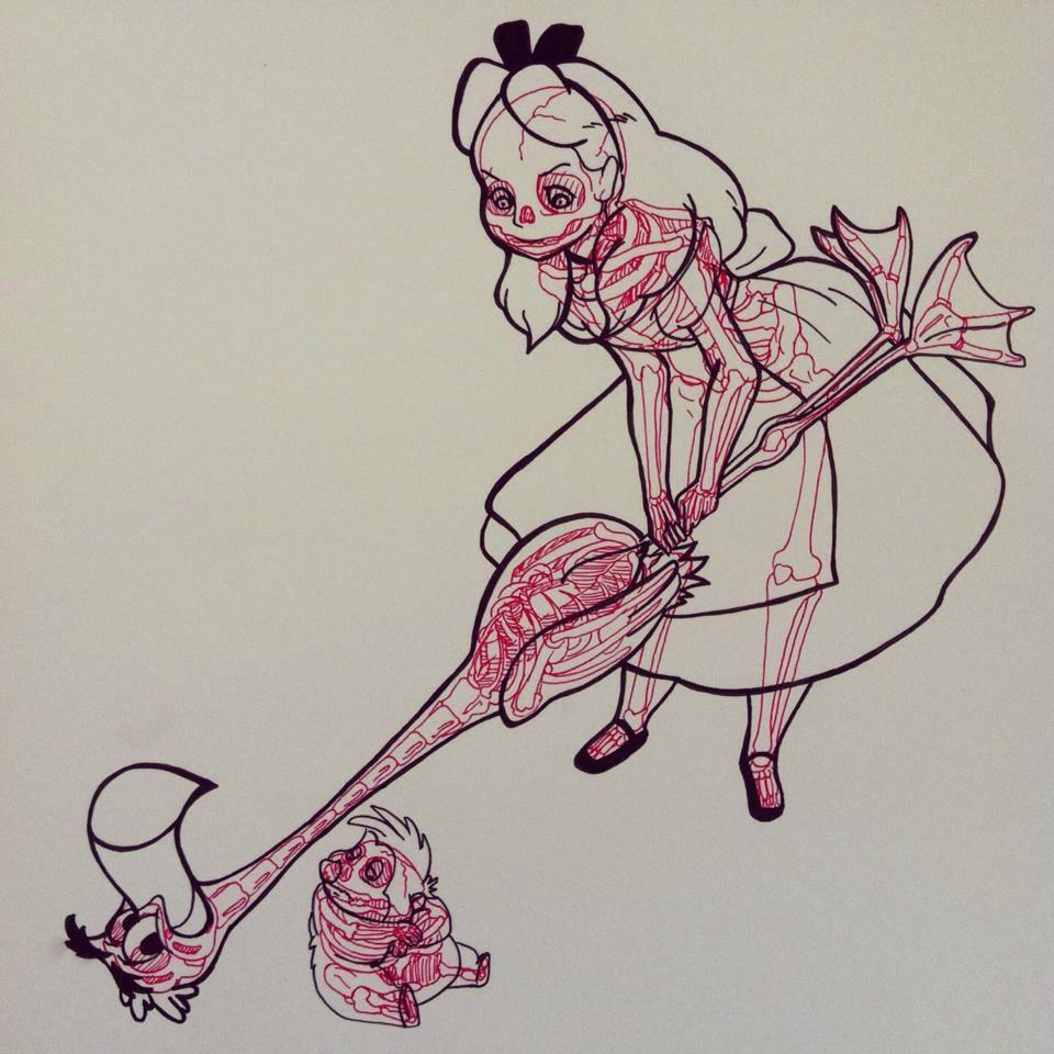 Cartoon X Rays Pop Culture Monster