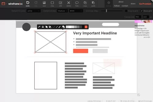Best wireframe tools for web design Wireframe cc