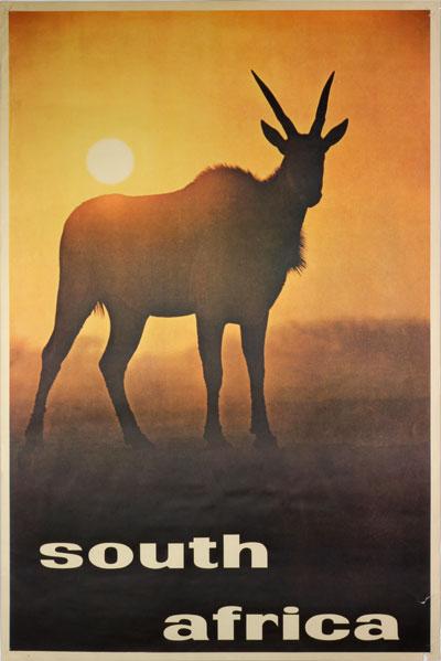 Original Vintage Poster South Africa For Sale At