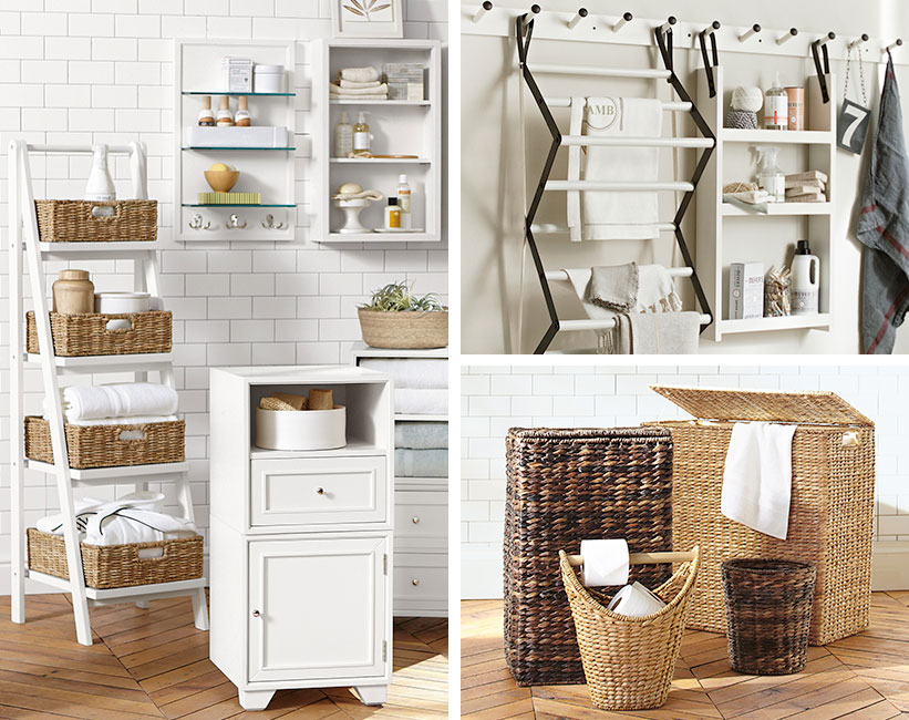 Bathroom Storage   Pottery Barn 9 clever towel storage ideas for your bathroom2