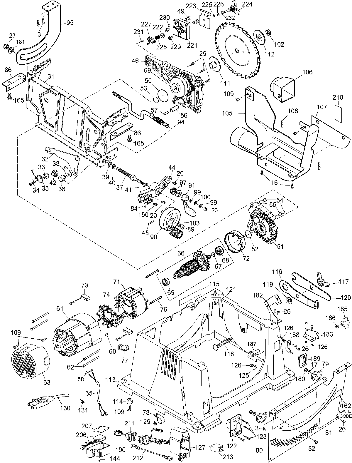 Wiring diagram for a dw745 switch
