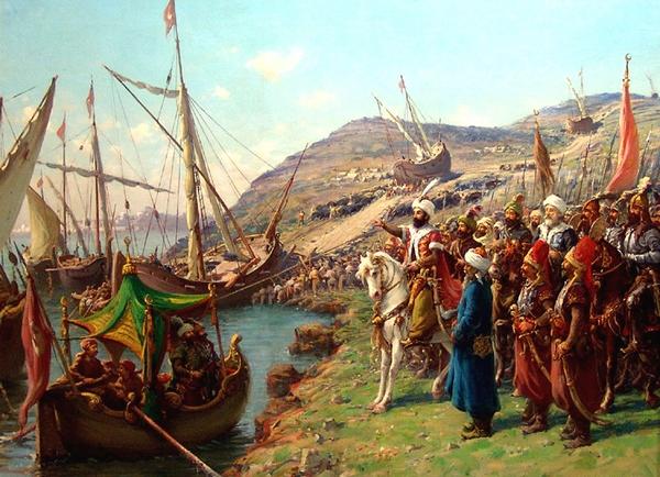 Sultan Mehmed IIはその船舶の運送を見ます