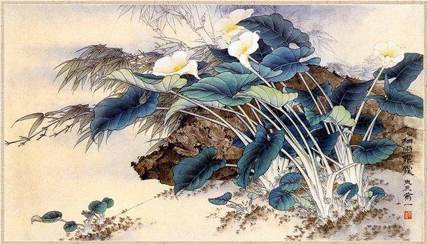 уносимые ветром цветы