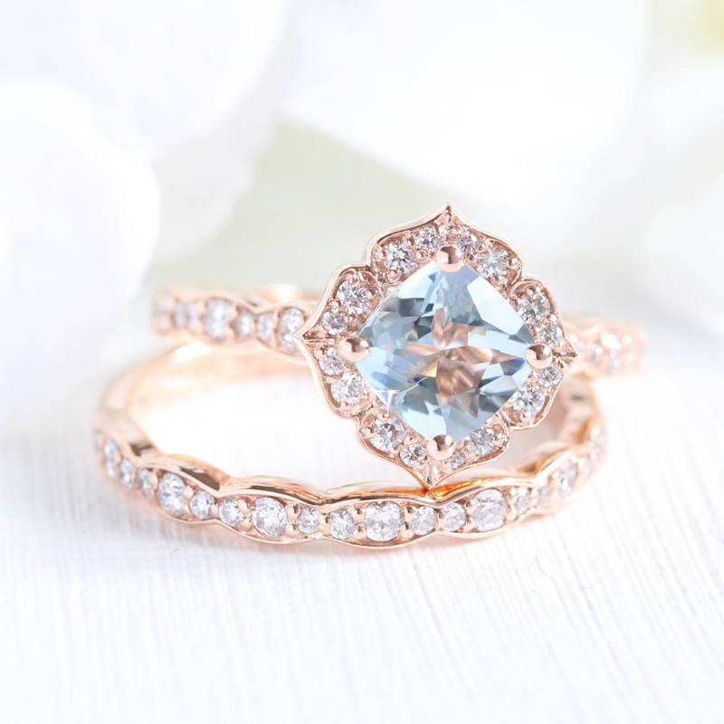 14 Vintage Inspired Flower Engagement Rings For Feminine Bridal Looks Praise Wedding