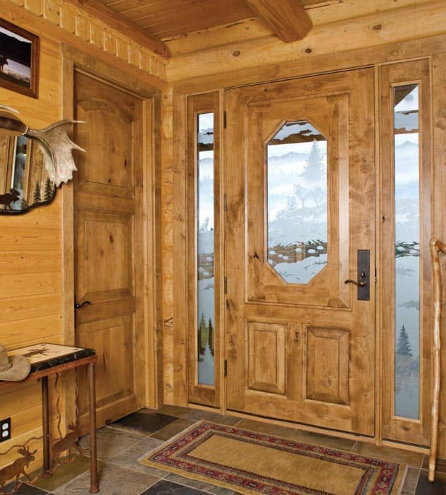Closet Doors Log Homes