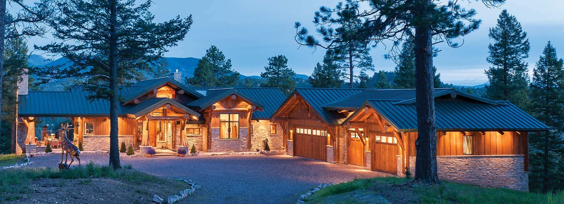 Post and Beam Homes   by PrecisionCraft Log Post and Beam home