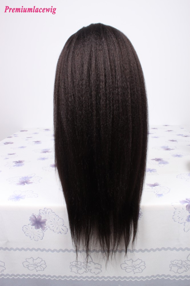 Kinky Straight Full Lace Wig Peruvian Virgin Human Hair