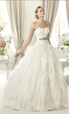 Search Used Wedding Dresses   PreOwned Wedding Gowns For Sale Pronovias Benicarlo 10