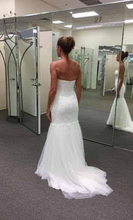 Strapless Wedding Dress With Tulle Skirt      Get Wedding Style   Best     Galina Strapless Lace Trumpet with Tulle Skirt KP3765 250 Size 6 Pin it  Galina Strapless Lace