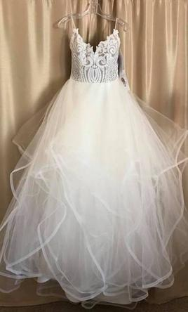 Hayley Paige 1700 Pepper Wedding Dress New Altered