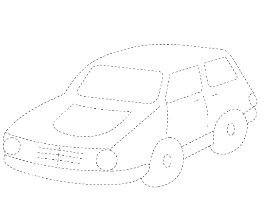 Crafts Actvities and Worksheets for Preschool Toddler and Kindergarten car tracing worksheet