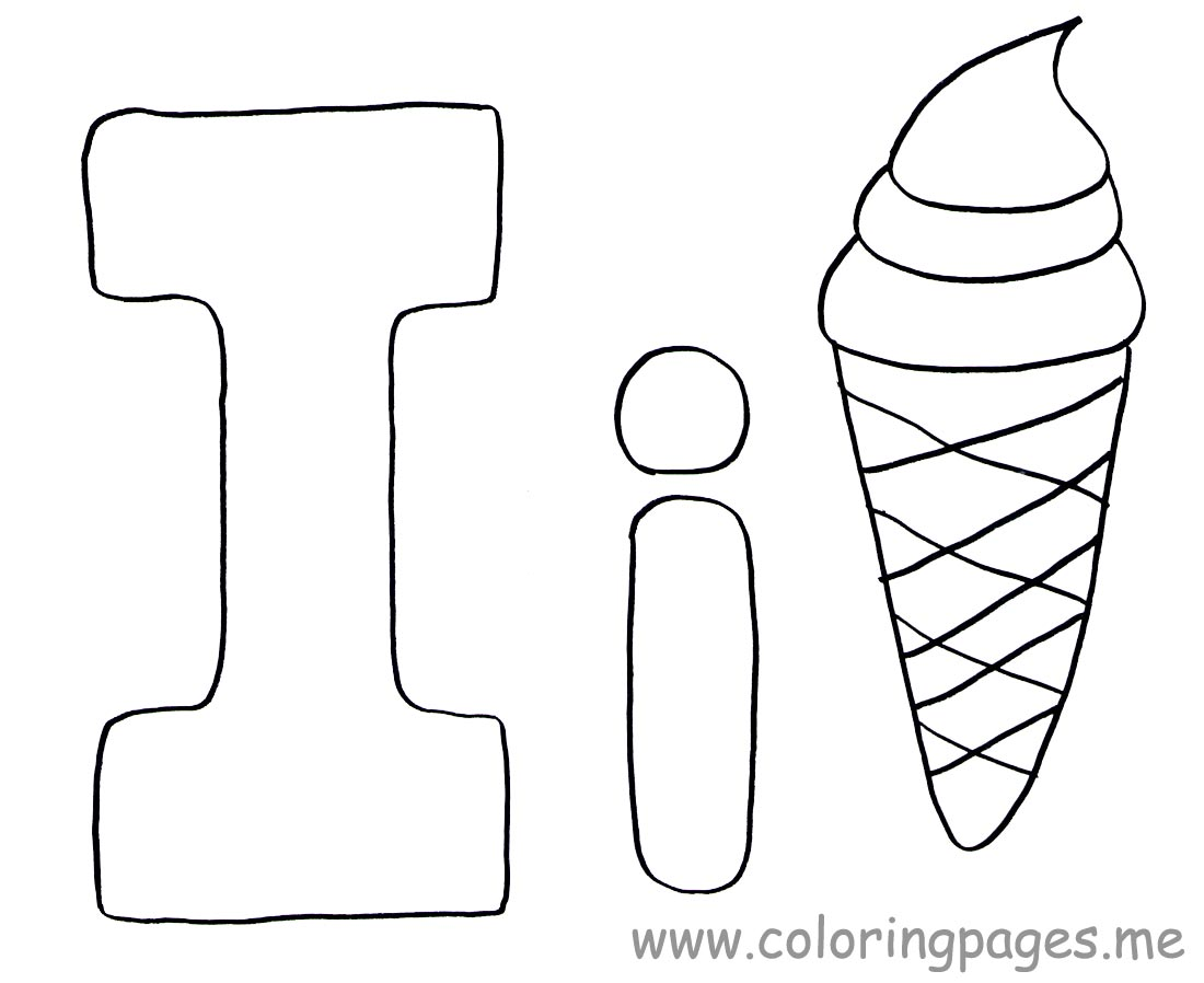Letter I Coloring Pages Preschool Crafts