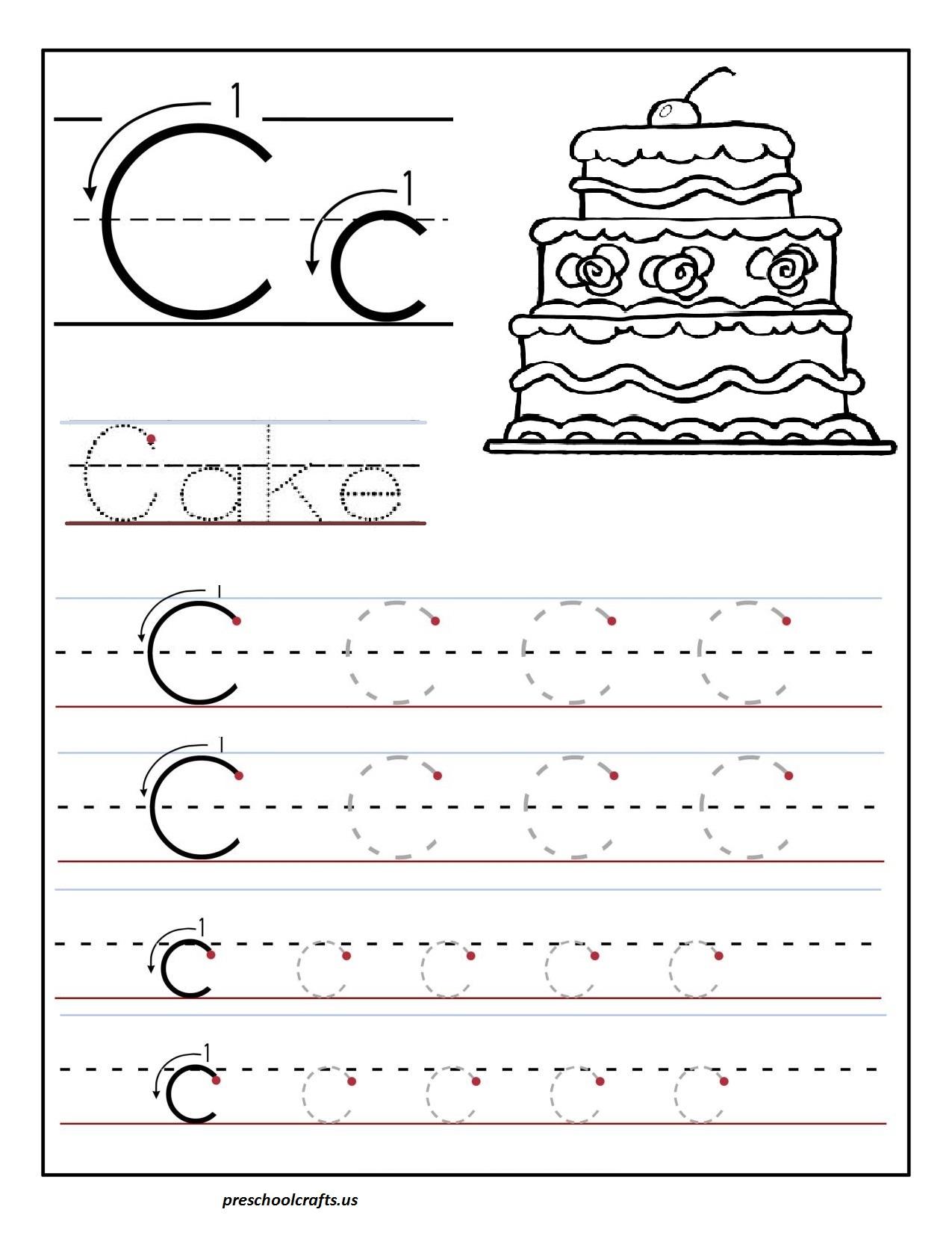 Pr T Ble Letter C Tr C G W Ksheets Preschool