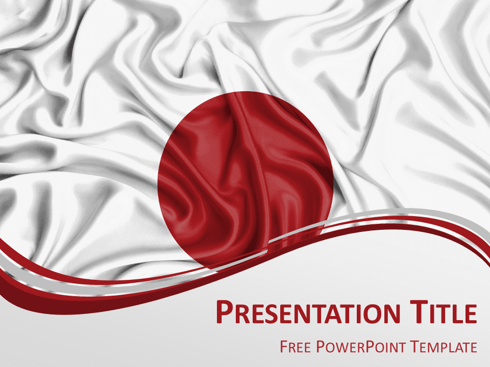 Free White PowerPoint Templates   PresentationGO com Japan Flag PowerPoint Template