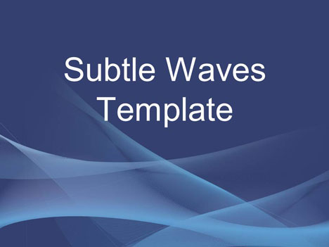 56 470 Free PowerPoint templates from Presentation Magazine subtle waves template