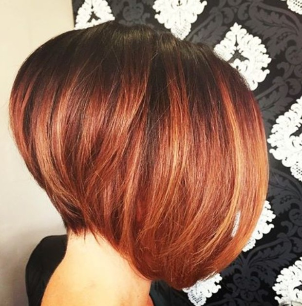 Red Hair Light Brown Highlights