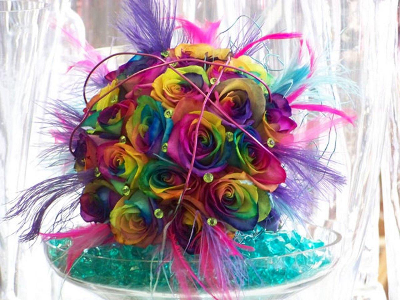 Multi Colored Wedding Theme