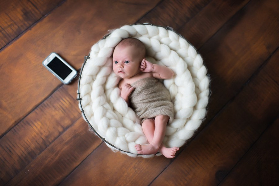 6 Newborn Photography Tips to Rock Your First Session     Pretty     newborn photography examples newborn in basket prop