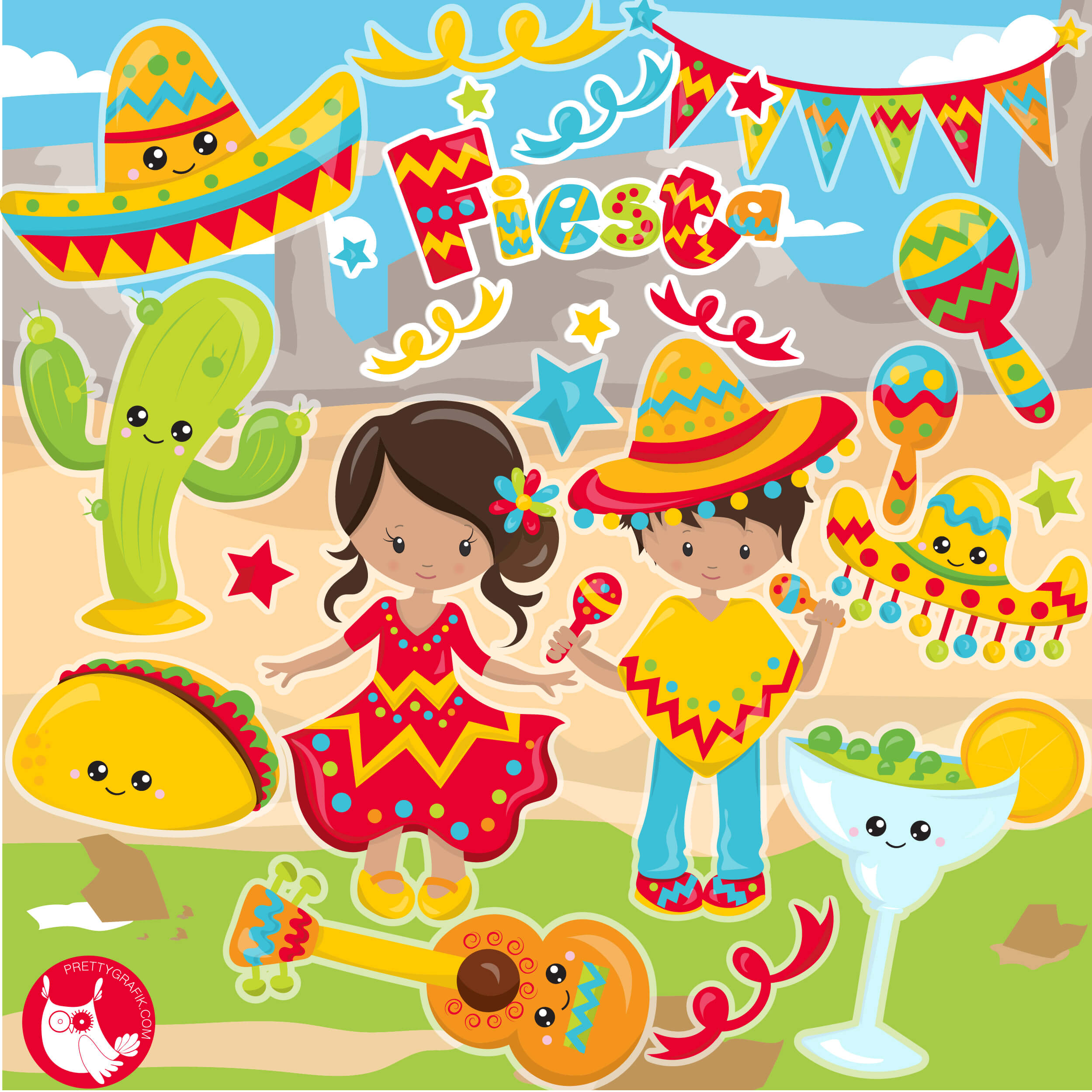 mexican backgrounds clip art - HD2499×2499