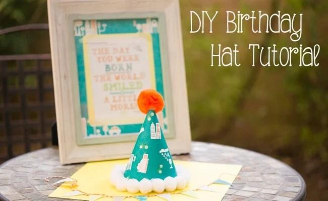 Diy Birthday Party Hat Tutorial Pretty My Party