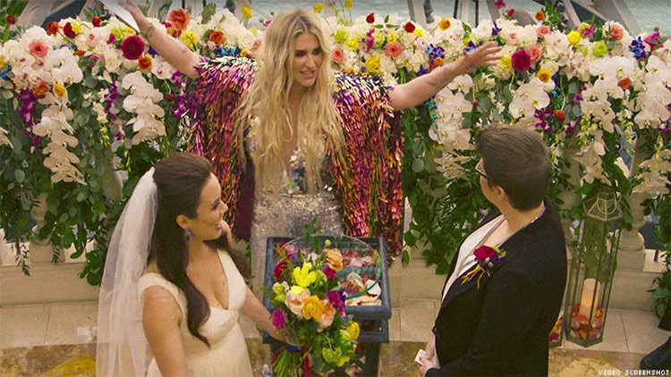 We Want Kesha to Officiate Every Same Sex Wedding From Now On