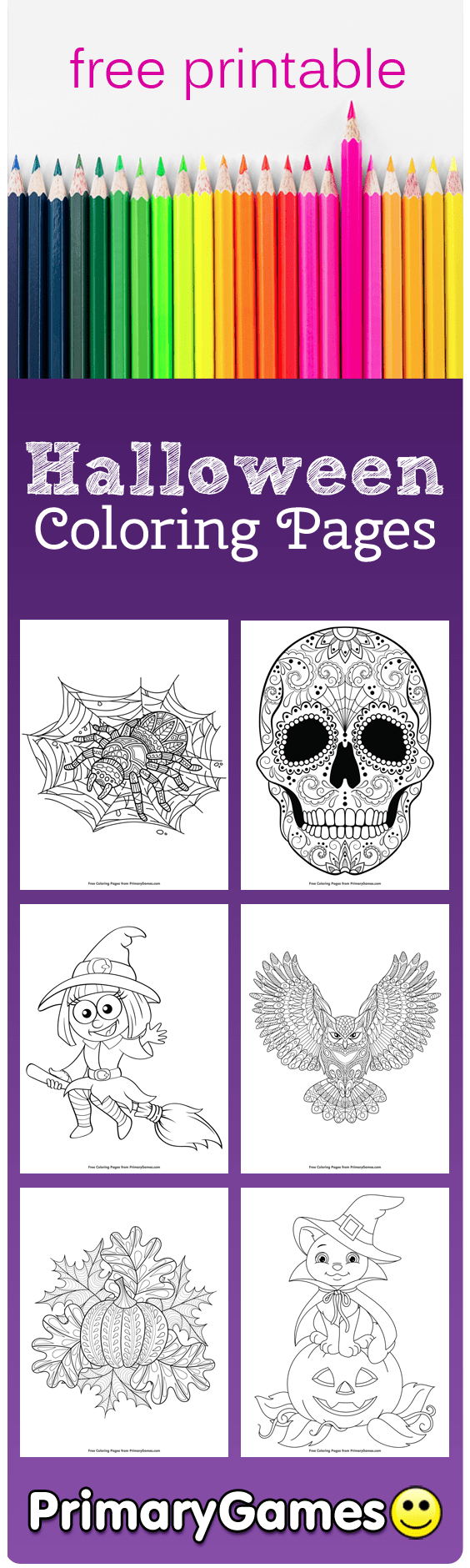 Halloween Coloring Pages Printable Coloring Pages Primarygames