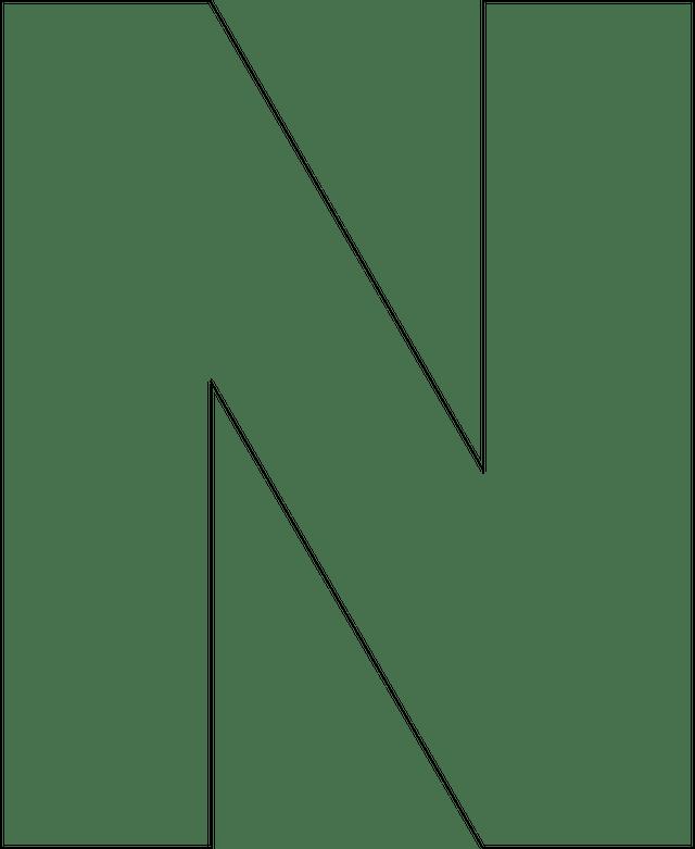 Large Size Alphabet Letter Printable Template