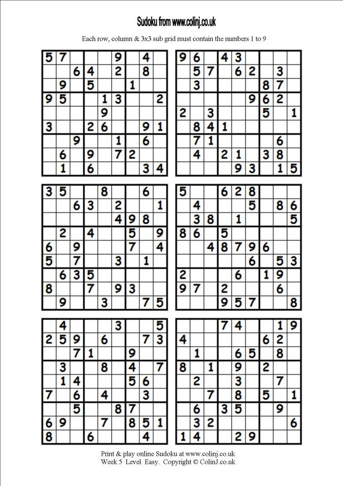 photo regarding Printable Sudoku 6 Per Page named no cost printable sudoku 6 for every web page
