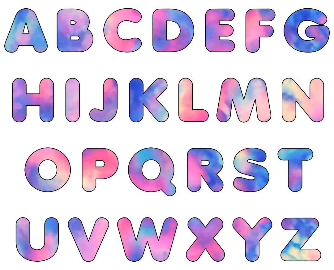 Printable Large Size Alphabet Bubble Letters