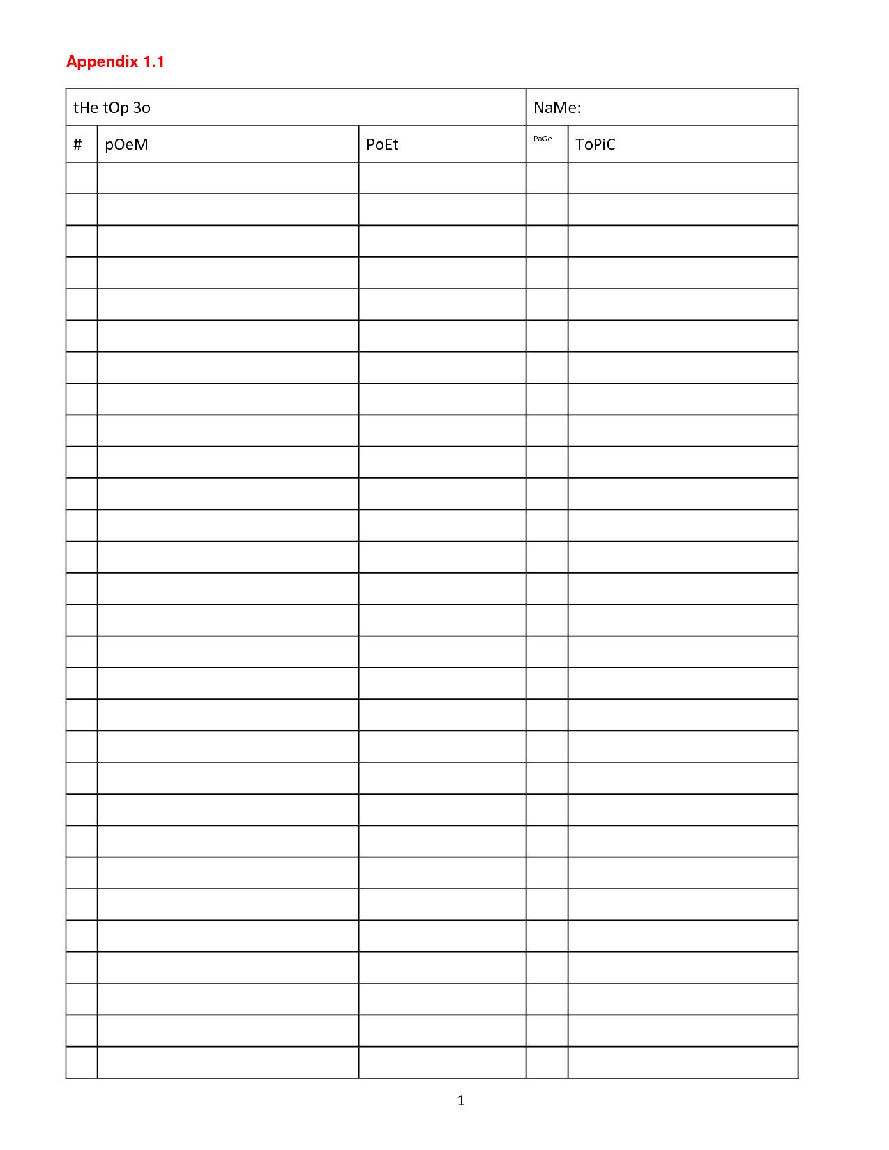 Advice Column Blank Printable Template