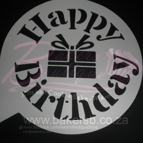 Birthday Cake Stencil Printable Happy