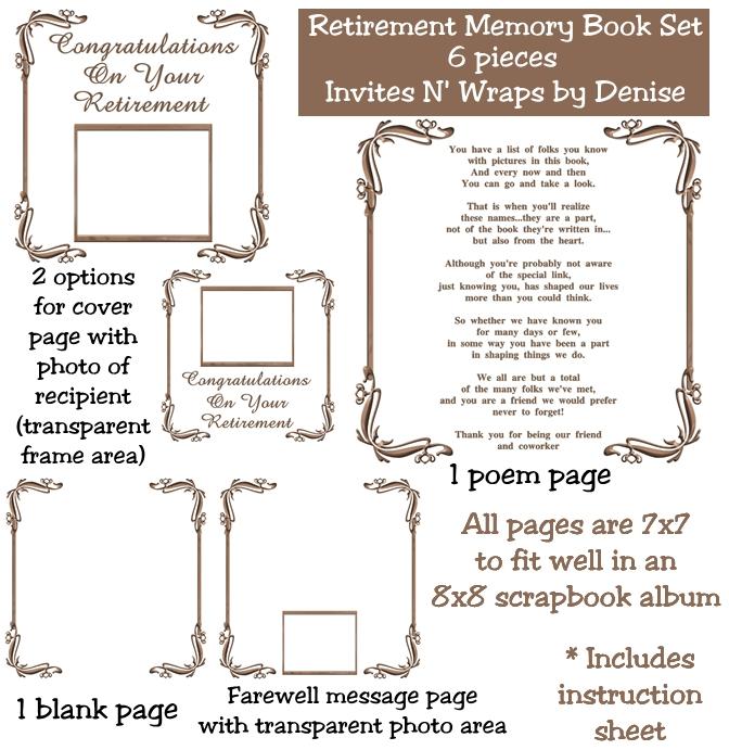 Retirement Memory Book Template