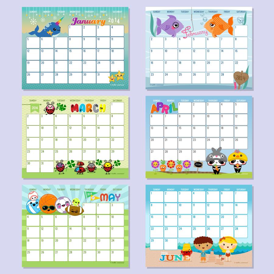 Editable Monthly Calendar