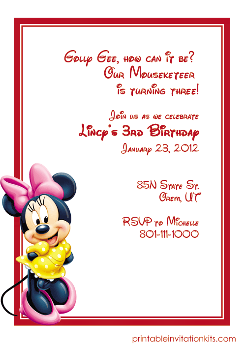 Happy Birthday Invitation Template