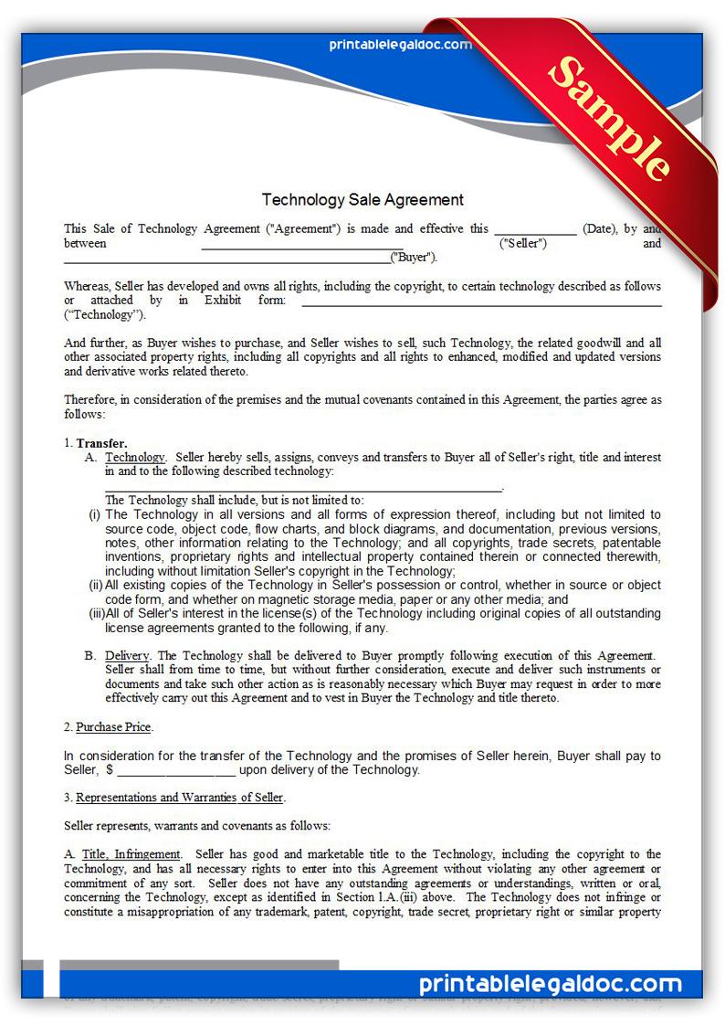 Agreement Buyer Seller Printable