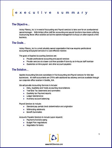Sample Proposal Template