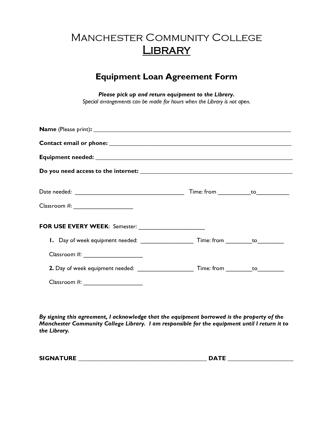 Doc413585 Loan Contract Sample 5 Loan Agreement Templates to – Loan Template Agreement