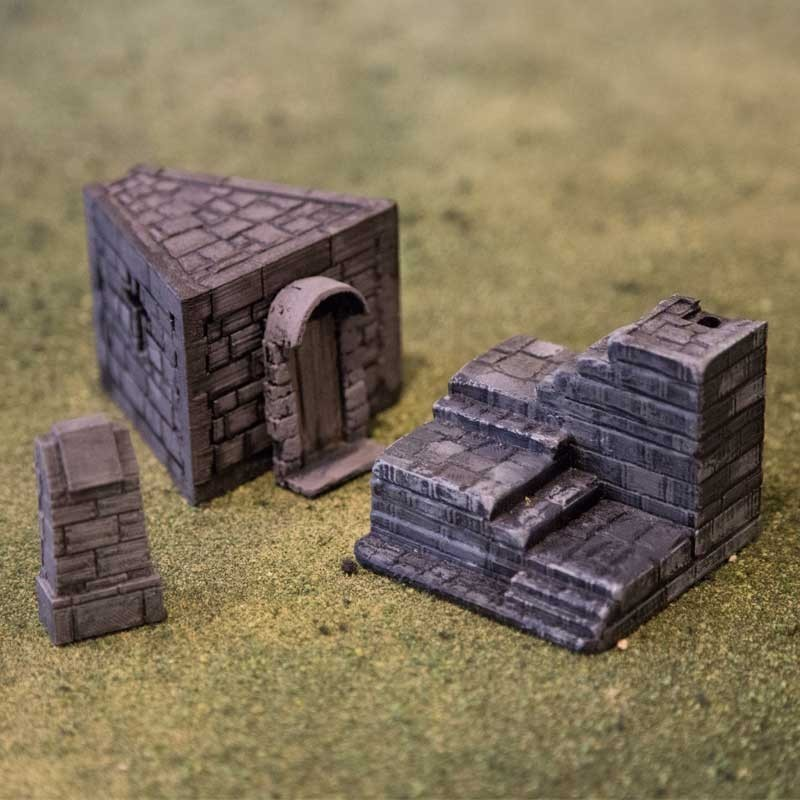 3d Printable Octagon Castle Wall Add On Pack