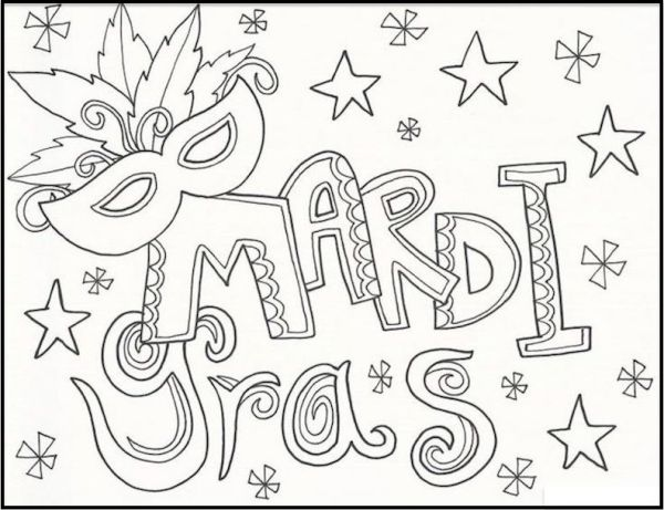 mardi gras coloring pages free printable # 7