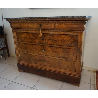 Commode Ancienne on Proantic   Louis Philippe  Charles 10th   19th     Belle Et Originale Commode secr    taire Louis philippe